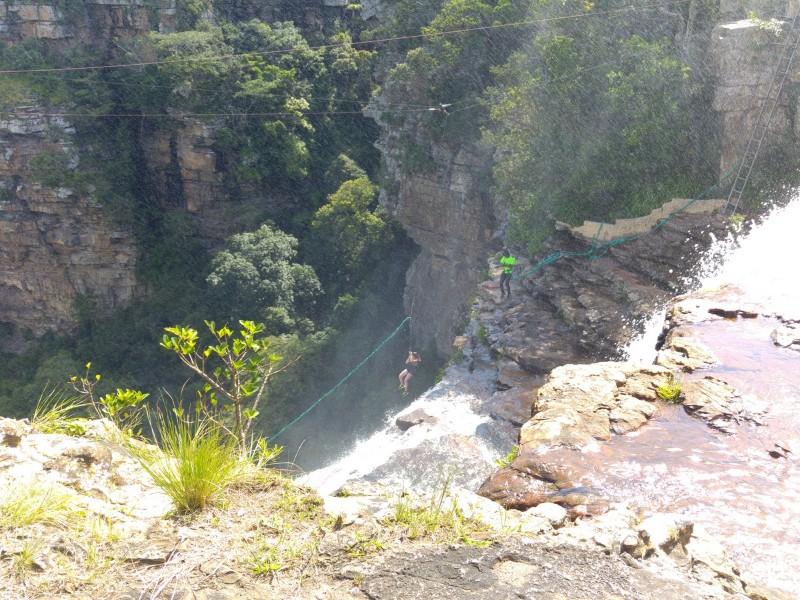 Suedafrika-Oribi-Gorge-Sprung