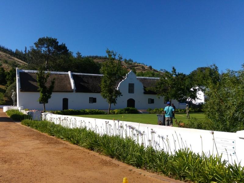 Suedafrika-Stellenbosch-Weltevreden-Estate-Gebaeude