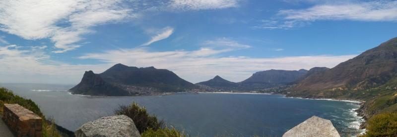 Suedafrika-Kapstadt-Chapmans-Peak-Drive-Bucht-Panorama