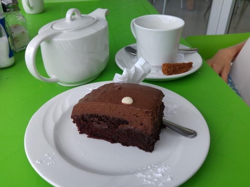 Suedafrika-Margate-KCs-Coffee-Shop-Schokokuchen