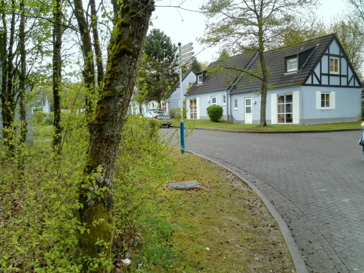 Schön angelegte Wohnsiedlung im Center Parcs Eifel